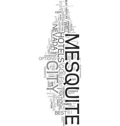 your guide to popular mesquite hotels text word vector image vector image