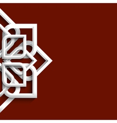 Arabic 3d white ornament vector image vector image
