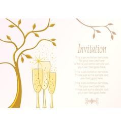 Elegant invitation template vector image vector image