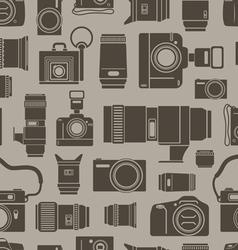 Modern and retro photo technics vector image