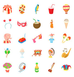 Output icons set cartoon style vector