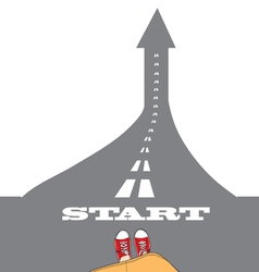 success start vector image