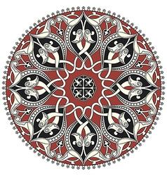 Arabic circular pattern vector image