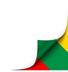 Curled Paper Corner with Lithuania Flag Background vector image vector image