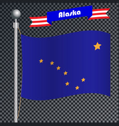 National flag of alaska vector