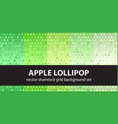 Shamrock pattern set apple lollipop seamless vector