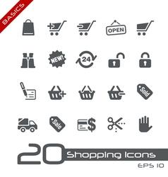 Shopping Basics Series vector image vector image