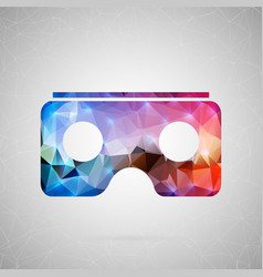 abstract creative concept icon of vr for vector image vector image