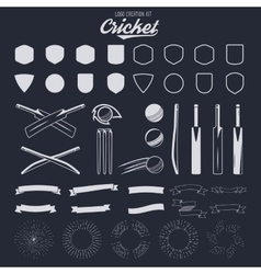 Cricket logo creation kit Sports logo designs vector image vector image
