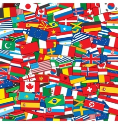 World Flags Background EPS10 Template vector image vector image