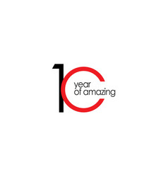 10 year amazing template design vector