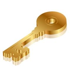 3d golden key vector