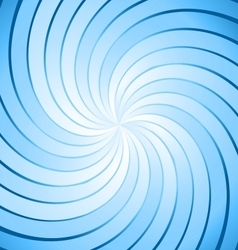 Abstract blue ray twirl background vector image