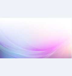 abstract curved with soft colors background vector image
