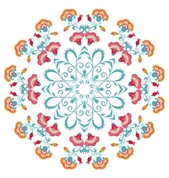 Abstract floral round ornament mandala with vector