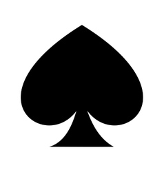 ace of spades isolated icon design vector image