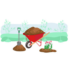 Agriculture outdoor seasonal work equipment vector