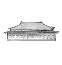 asian chinese pavilion buidling house in asian vector image