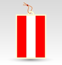 austrian flag made in tag vector image