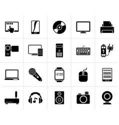 black home electronics and personal multimedia vector image
