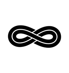 Black infinity knot logo vector image