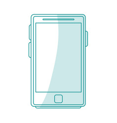 blue silhouette shading tablet tech device icon vector image