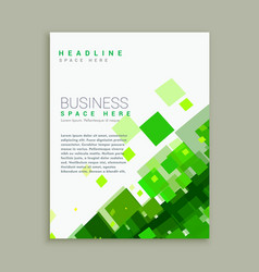 Business brochure template with bright green vector