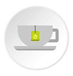 coffee cup icon circle vector image