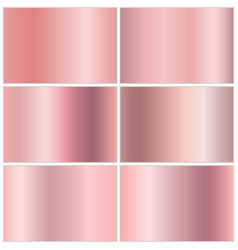 collection metal backgrounds vector image
