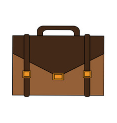 Color image cartoon executive briefcase with vector