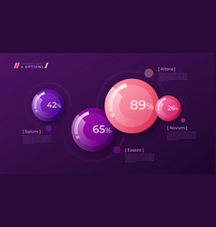 Colorful template for creating infographics vector