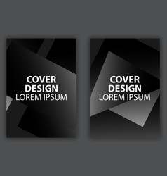 cover design poster with black and white vector image