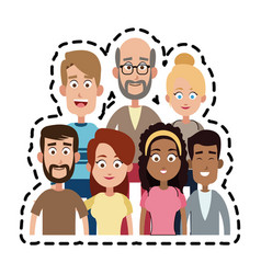 Different looking people icon image vector