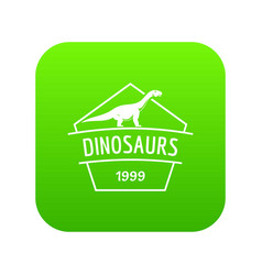 Dinosaur icon green vector