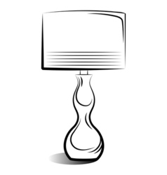 drawing lamp vector image
