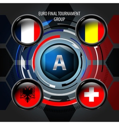 European Flag Buttons A vector