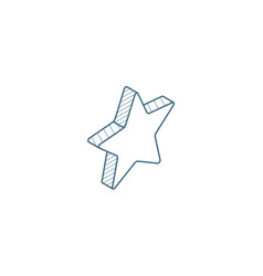 Five-pointed star bookmark isometric icon 3d line vector