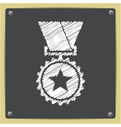 Flat medal vector image