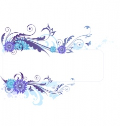 Floral background with blue flowers vector