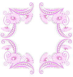 flower decoration frame with jewelry design vector image