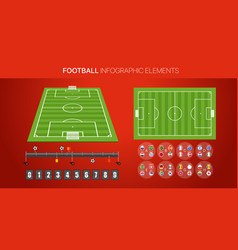 Football infographic elements soccer match vector