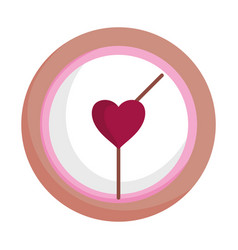 Happy valentines day clock time heart love date vector