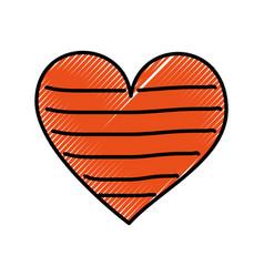 Heart love romance passion decorate stripes vector