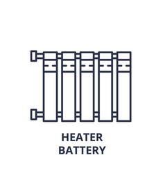 heater battery line icon concept heater battery vector image