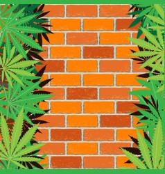 hemp and brick wall background vector image