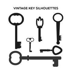Key silhouettes vector