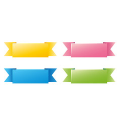 label template with four different colors vector image