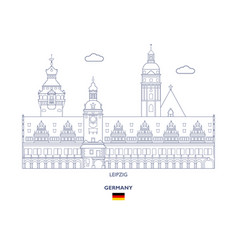 leipzig city skyline vector image
