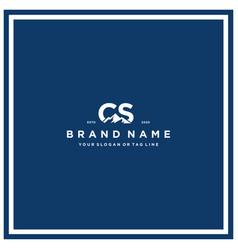 Letter cs mountain logo design vector