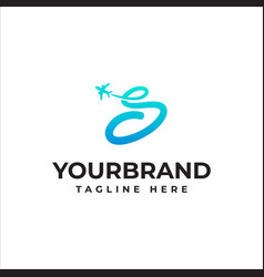 Letter s travel company logo airline business vector